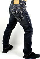 True Religion $329 Men's Ricky Earthworm Relaxed Straight Super T Jeans -100632