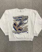 Vintage 90s Georgetown University Hoyas Crewneck XL Gray Sweatshirt USA VTG