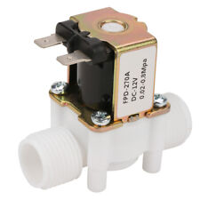 "12V G1/2"" NC Plastic Electrical Inlet Solenoid Water Valve for Water Dispense C"
