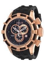 Swiss Made 15775 Reserve Bolt Chronograph 18K Rose Gold Plated SS Men's Watch