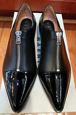 AUTH NIB NEW Black Marni Patent Toe Loafer Sz 37 Italy