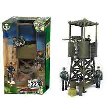 World PeaceKeepers Army Military Lookout Tower With Army Figures 3+ Years