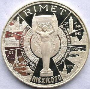 Equatorial Guinea 1970 Rimet Cup 200 Pesetas 1.28oz Silver Coin,Proof