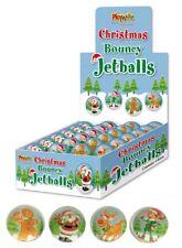 8 Christmas Bouncy High Bounce Jet Balls Christmas Stocking Party Bag Filler