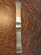 New Old Stock Bulova Accutron Tuning Fork Mens Gold Tone Watch Band 20mm  BEAUTY