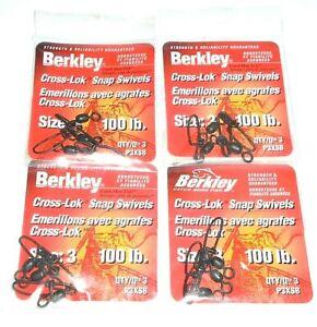 Details about  /Berkley Cross-Lok Snap//Swivels Sz.12 30# 5-Pack