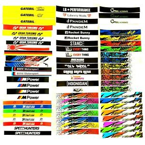RC 1/10 Windshield Banner Sticker Decal Drift Car Onroad for Body Shell