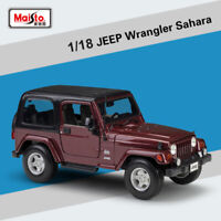 1:18 Scale Jeep Wrangler Sahara Alloy Toy Collection by Maisto Diecast Car Model