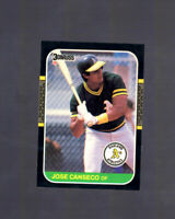 1987 Donruss Jose Canseco #97 Card Oakland A's Star Athletics