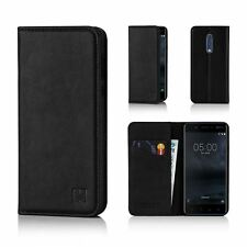32nd Classic Series - Real Leather Book Wallet Case Cover for Nokia 5 Nokia.5.32ndclassic-black Black