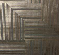 "DONGHIA JACKSON GILL GREY STRIPE GEOMETRIC VELVET FURNITURE FABRIC 4 YARDS 52""W"