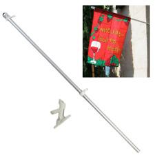 5ft Aluminum Flag Pole Flagpole Poke Kit w/ Bracket Residential Commercial