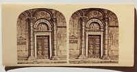 Pisa Port Del Dôme Italia Stereo Vintage Albumina Ca 1860