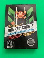 Donkey Kong 3 Nintendo Nes Black Box Hang Tab 5 Screw