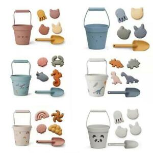 Silicone Children Beach Toys 6 Pcs Sand Play Kit Baby Summer Digging Sand Beach