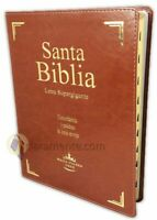 BIBLIA LETRA SUPER GIGANTE DE 18 PUNTOS REINA VALERA 1960 CAFE CON INDICE