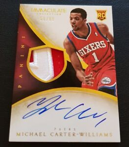 2013-14 Immaculate Michael Carter-williams Rookie Patch Auto RPA #/99