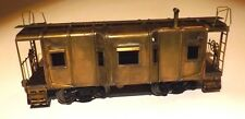 O SCALE BRASS BAY WINDOW CABOOSE  VINITAGE   MADE IN JAPAN