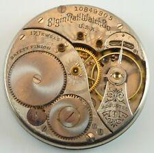 Elgin Grade 322 Complete Running Pocket Watch Movement - Parts / Repair