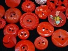 AWESOME LOT VINTAGE FANCY FLOWER PIERCED + RED BUTTONS