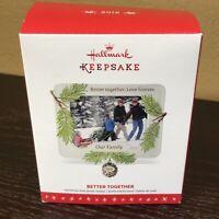 Hallmark Keepsake Ornament 2016 Better Together Our Family Frame Pine Cone NIB