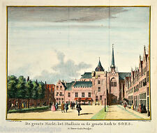 Original engraving 1745 - Goes Niederlande Zeeland Nederland Kupferstich Tirion