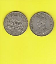 British East Africa GEORGIUS V One  Shilling Argent 1924  Exemplaire N° B