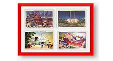 Postcard Display Frame & Mat For 4 Vintage / Antique 3-1/2 x 5-1/2 Cards: COLORS