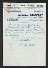 """LA CHAPELLE-D'ALIGNE 72: CONCESSIONNAIRE TRACTEUR GULDNER """"Raymond LAMBERT"""" 1960"""