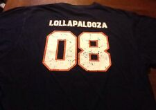 Vintage Lollapalooza 2008 s/s navy t-shirt size medium
