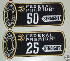 Federal Trap Skeet 25 & 50 Straight Shooting Patches