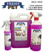 Fresh Pet Pack Kennel/gattile DISINFETTANTE Bubblegum 250ml SPRAY 1L SPRAY + 5L