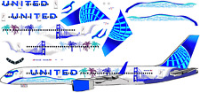 """United 757-200 """"California"""" livery  airliner Decal 1:144 scale For Minicraft Kit"""