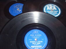 78RPM 3 Ara by Phil Harris, One-zy, Jelly Bean, Woodman, Little, Dark Town, wV-