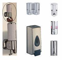 SOAP DISPENSER SHOWER GEL SHAMPOO BATHROOM WALL MOUNTED PUMP ACTION CHROME TALL