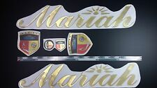 "mariah boats Emblem 22.5"" gold gloss Epoxy Sticker Resistant to mechanical shock"