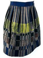 Sz 8 Etro Spa Via Spartaco 3 20135 Milano Italy Pleated Silk Wool Skirt Italy 44
