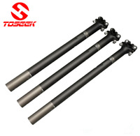 3K Carbon Fiber MTB Road Bike seatpost Seat Tube 27.2/30.8/31.6mm*350/400mm