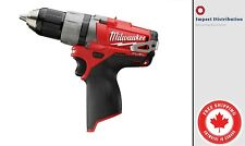 New Milwaukee 2403-20 M12 FUEL 12-Volt Brushless 1/2 in Drill / Driver Tool Only