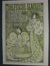 1987 ART NOUVEAU PRINT ~ JAN TOOROP ~ DELFT'SCHE SLAOLIE