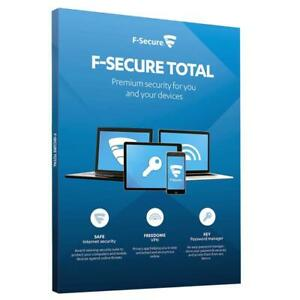 F-Secure Total Security 2021 & Privacy VPN 3PC 5PC / Device / 1-2Year