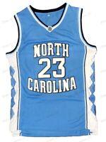 Michael Jordan #23 North Carolina Men's Basketball Jersey Stitched Blue S-3XL