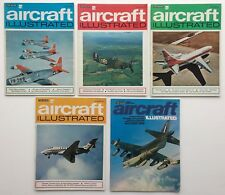 Aircraft Illustrated - 5 Aeroplane Magazines (1971)