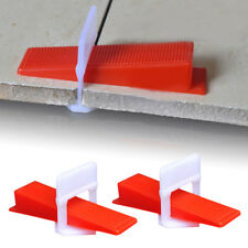"1/16"" - 500 Clips+ 100 Wedges - Tile Leveling System Floor Wall Spacer Lippages"
