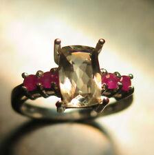 Cushion Engagement Natural Fine Gemstone Rings