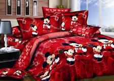Cotton Red Mickey Mouse Bedding Set Duvet Cover Comforter Cover PillowCase 2020