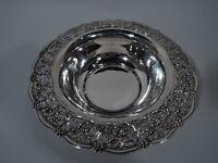 Tiffany Bowl - 17790A - Antique Edwardian Pierced   American Sterling Silver
