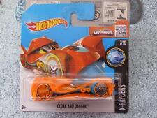 Hot Wheels 2016 #017/250 CLOAK AND DAGGER orange X-RACERS Case C