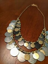 Statement Necklace Medallion Gold And Silver Vintage