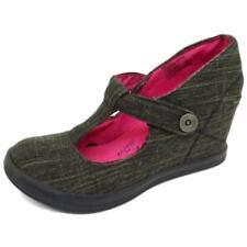 Zapatos de tacón de mujer plataformas de lona Talla 37.5